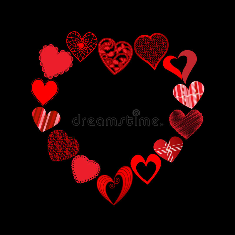 Download Hearts In Heart Shape Royalty Free Stock Photography - Image: 28369927