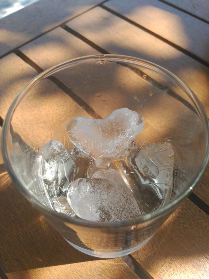 Hearts of ice royalty free stock image