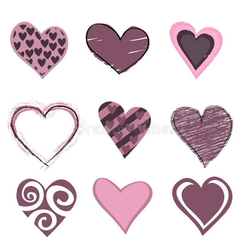 Download Hearts icon set stock vector. Illustration of love, beauty - 8411587