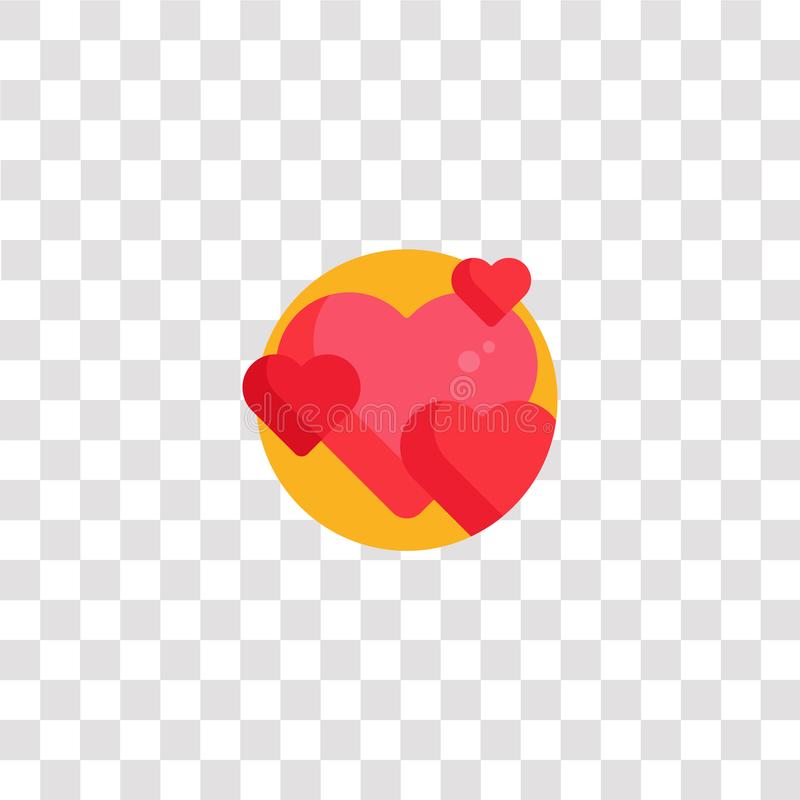 hearts icon sign and symbol. hearts color icon for website design and mobile app development. Simple Element from happiness vector illustration