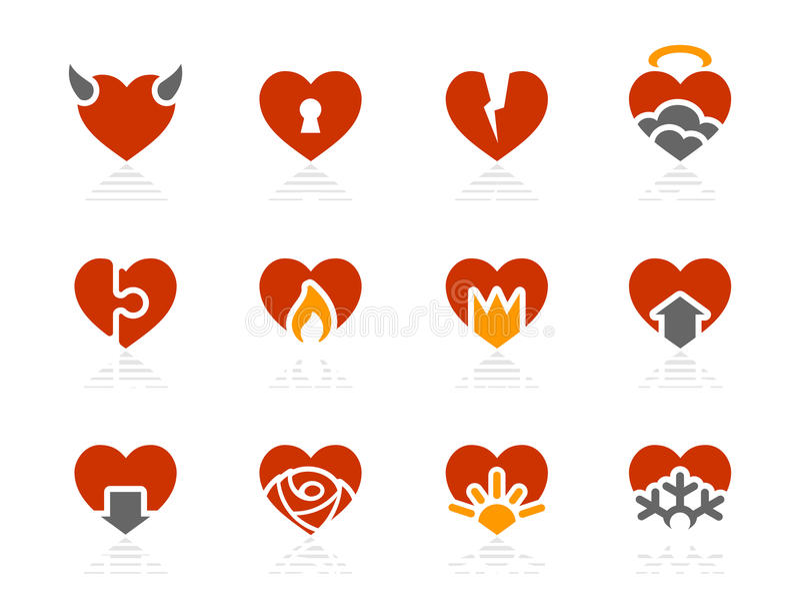Hearts icons | Sunshine Hotel series royalty free stock image