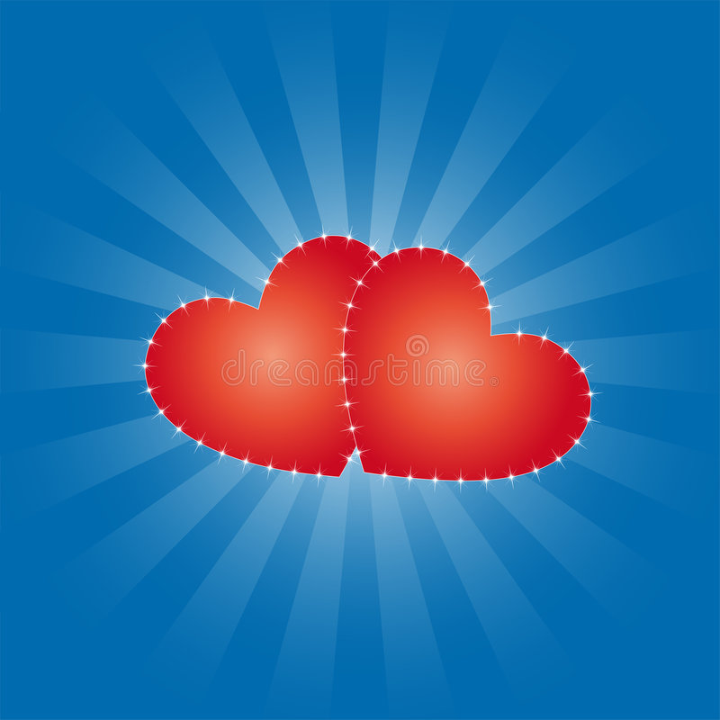 Hearts illustration stock images