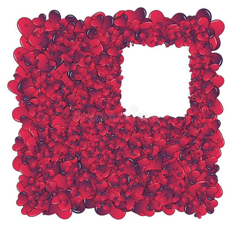 Download Hearts invasion frame stock illustration. Illustration of border - 28690562