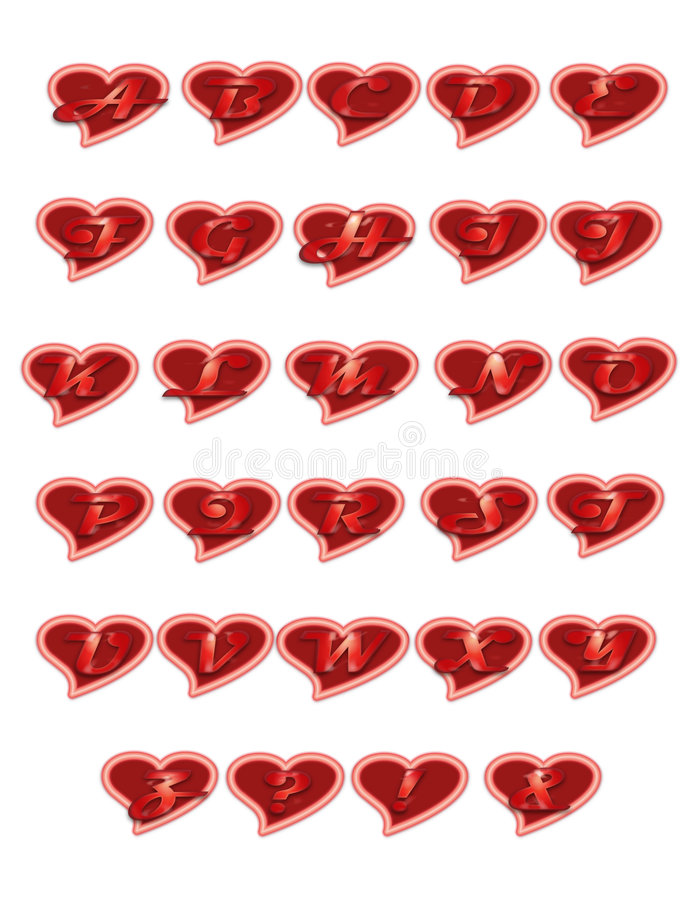 Free Hearts Letters Royalty Free Stock Photo - 727905