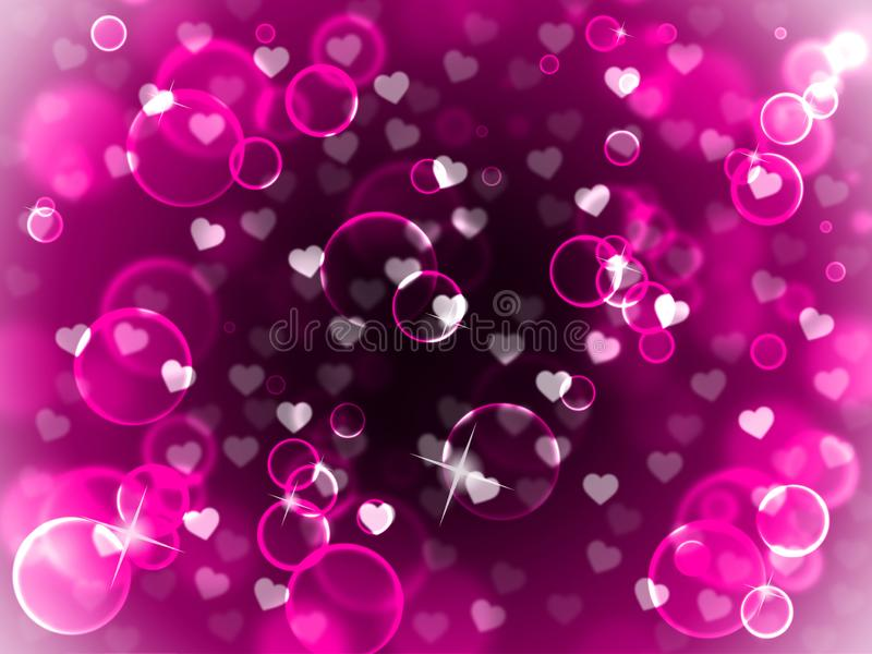 Hearts Love Backdrop Shows Valentine's Day Background vector illustration