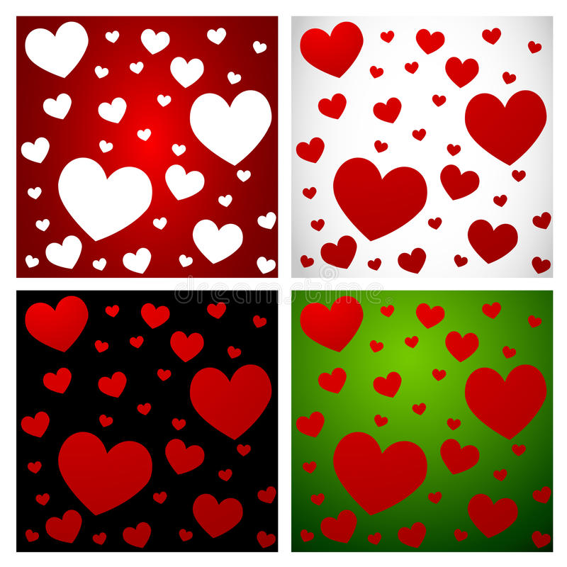 Download Hearts- Love pattern set-1 stock vector. Image of romantic - 22497766