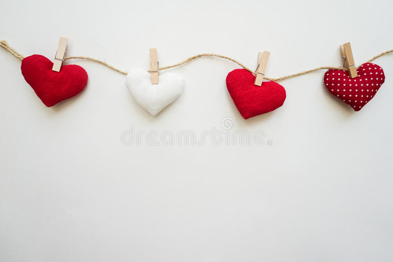 Hearts made with hands stock photos