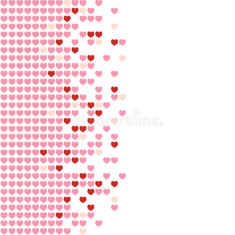 Download Hearts Mosaic stock vector. Image of backdrop, grid, pattern - 7699927