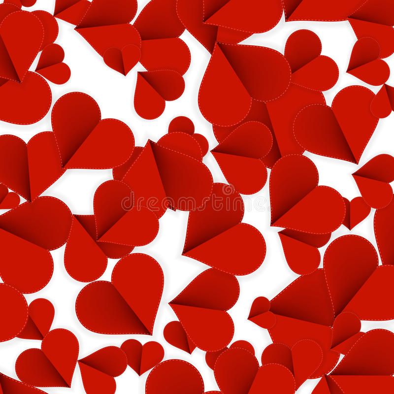 Hearts from paper Valentines day. + EPS10. File royalty free stock images