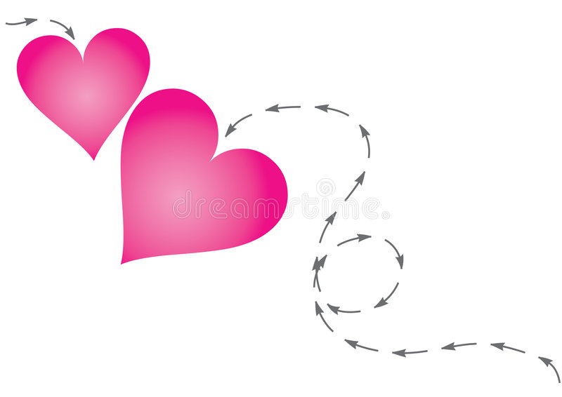 Hearts In Path Stock Photos