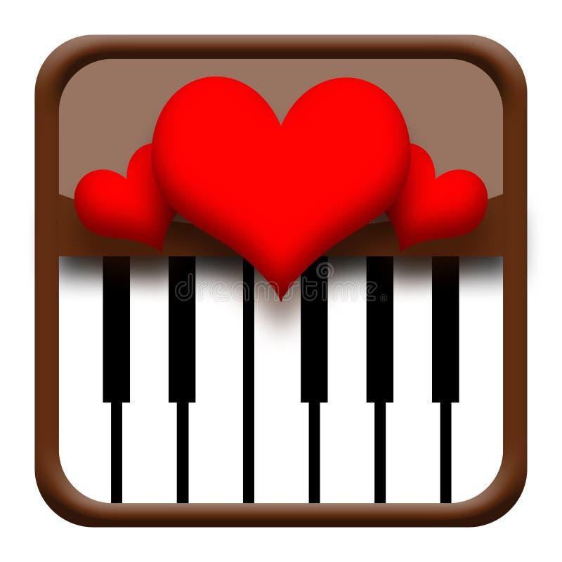 Download Hearts on piano stock illustration. Illustration of harmony - 28823557