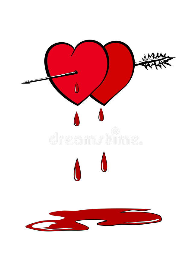 Download Hearts Pierced With An Arrow Stock Vector - Image: 28555153