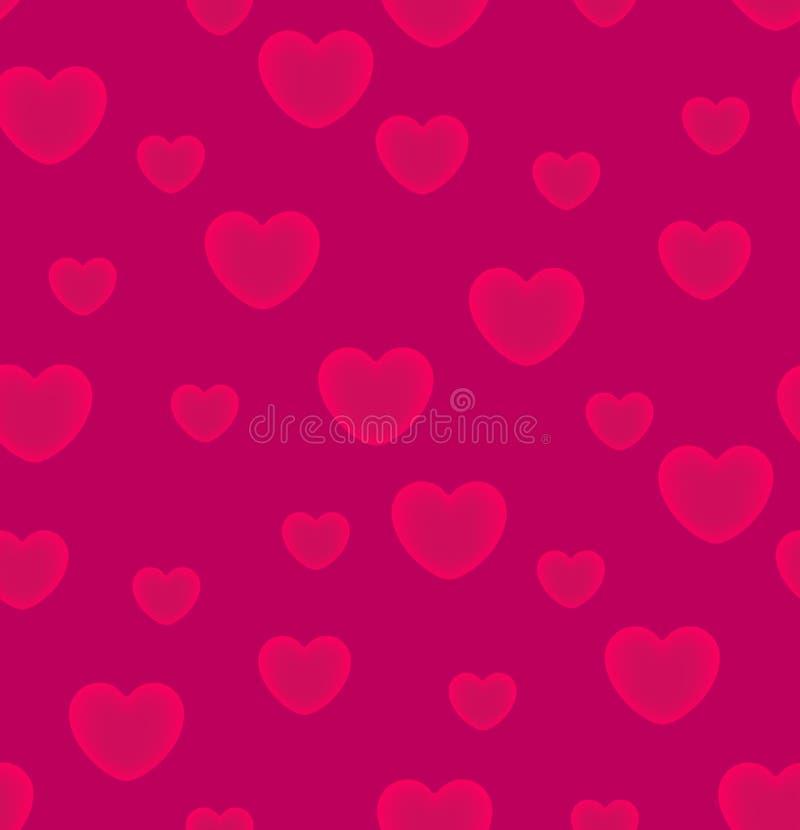 Hearts pink background seamless pattern. Vector illustration. EPS 10 vector illustration