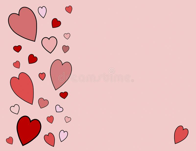 Hearts on Pink Background royalty free stock photography