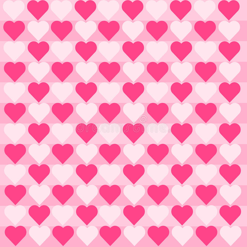 Hearts Pink White Pattern royalty free stock image