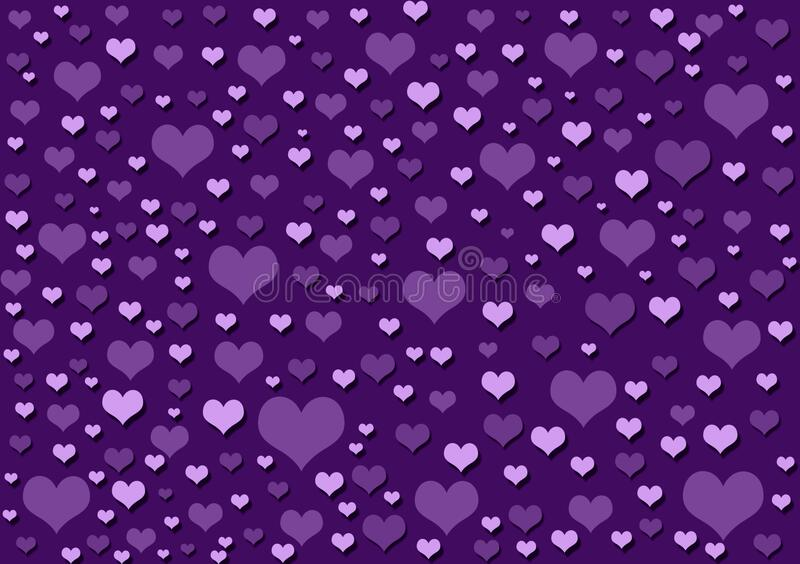 Hearts purple background wallpaper design. Hearts purple background wallpaper for use with design layouts or content creation vector illustration