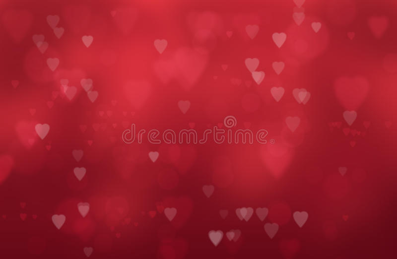 Hearts on a red background royalty free stock images
