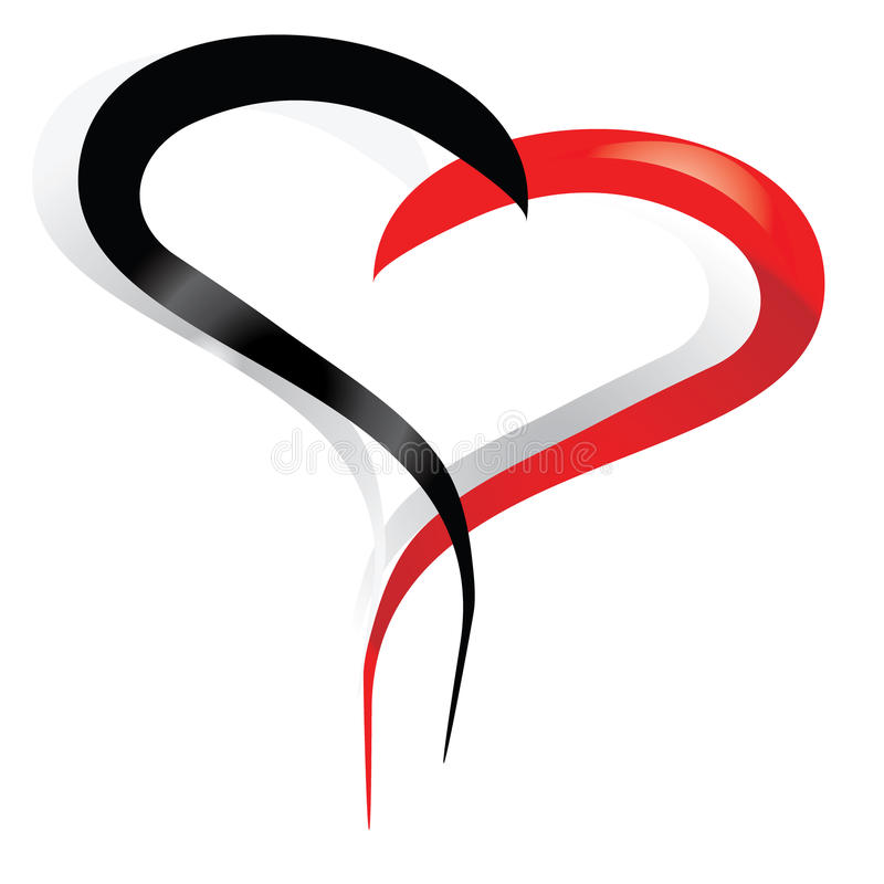 hearts red black stock images