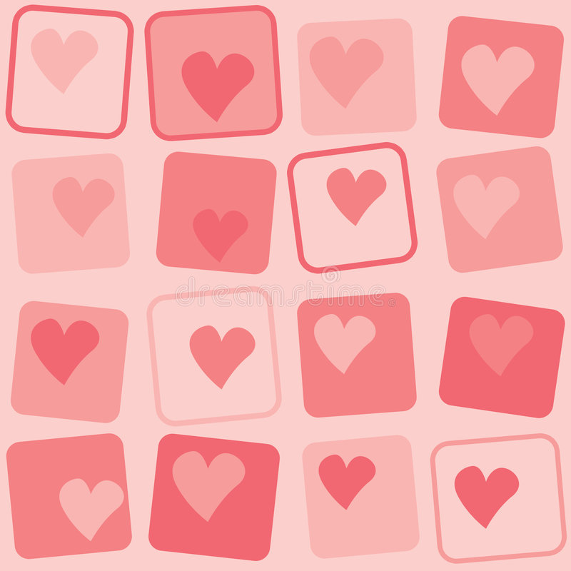 Hearts retro background stock illustration