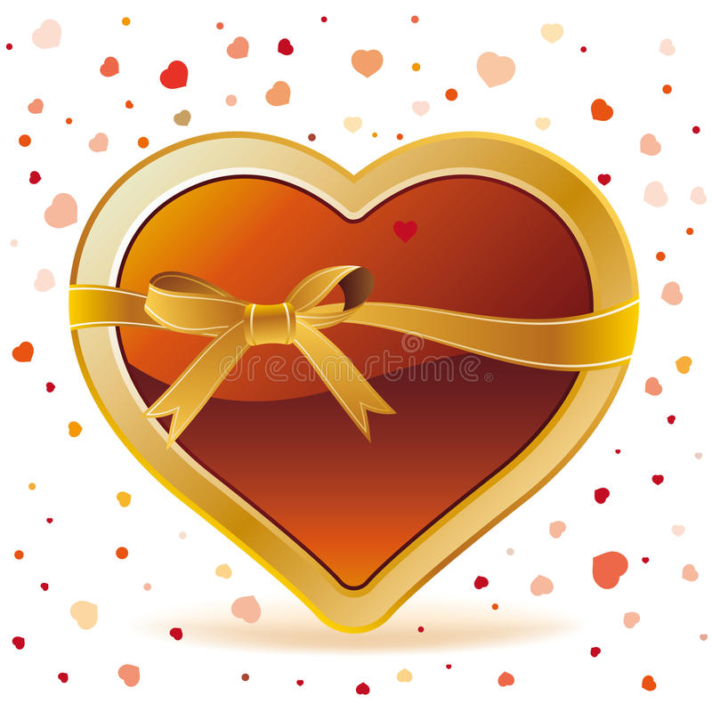 Download Hearts with ribbon stock vector. Image of beautiful, decoration - 17003470