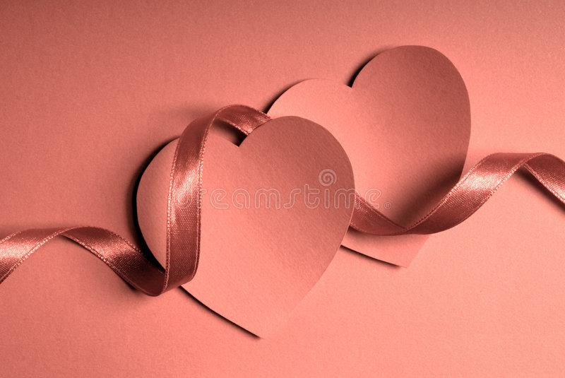 Download Hearts and ribbon stock image. Image of affection, card - 4024811