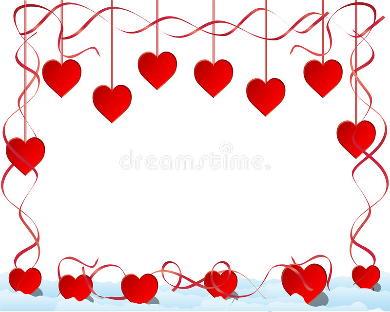 Download Hearts and ribbons stock vector. Image of ribbon, vector - 7863443
