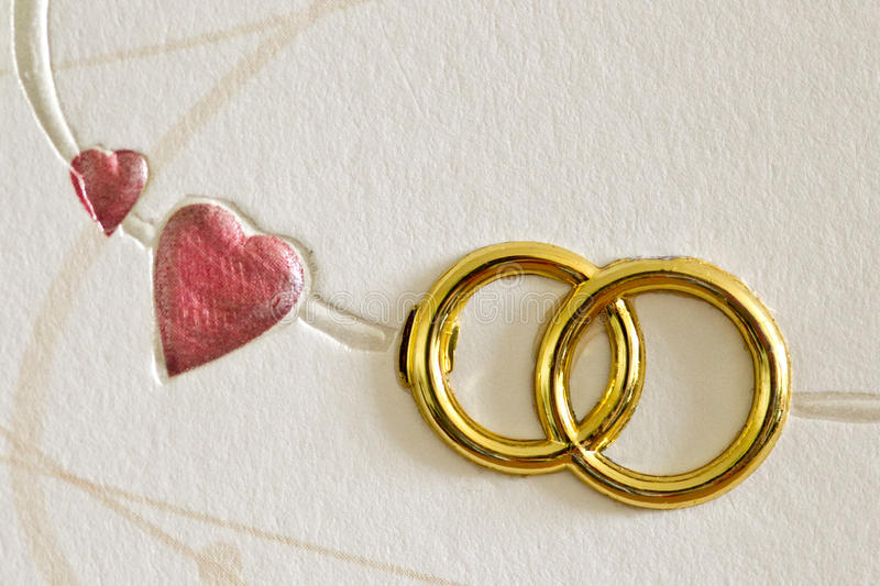 Hearts and rings royalty free stock photography