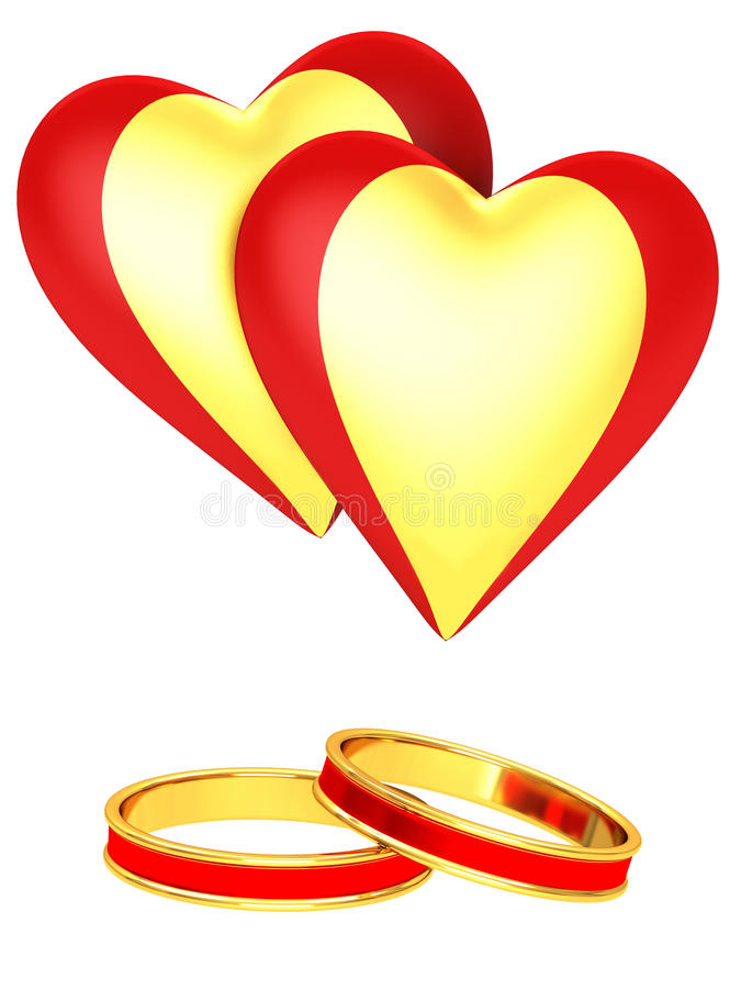 Download Hearts and rings stock illustration. Image of romance - 27026967