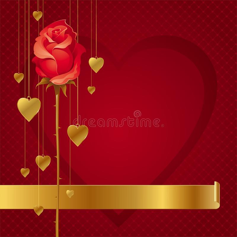 Download Hearts And Rose Background Stock Image - Image: 17835561