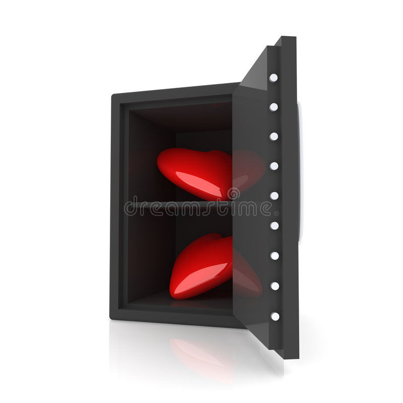 Hearts In A Safe Stock Photos