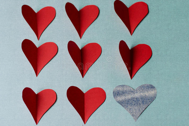 Hearts for saint Valentine's day royalty free stock images