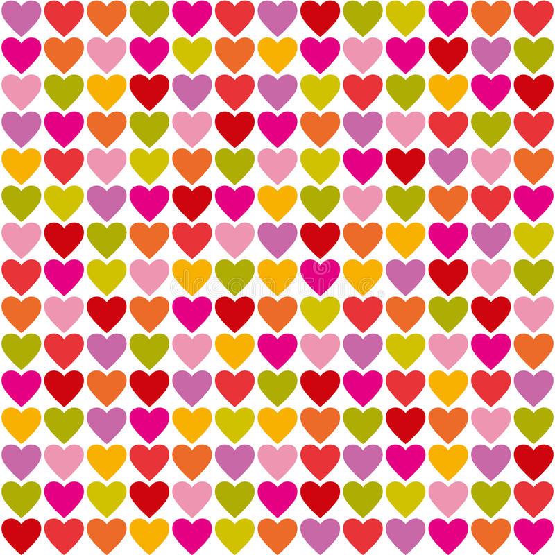 Hearts seamless pattern stock illustration