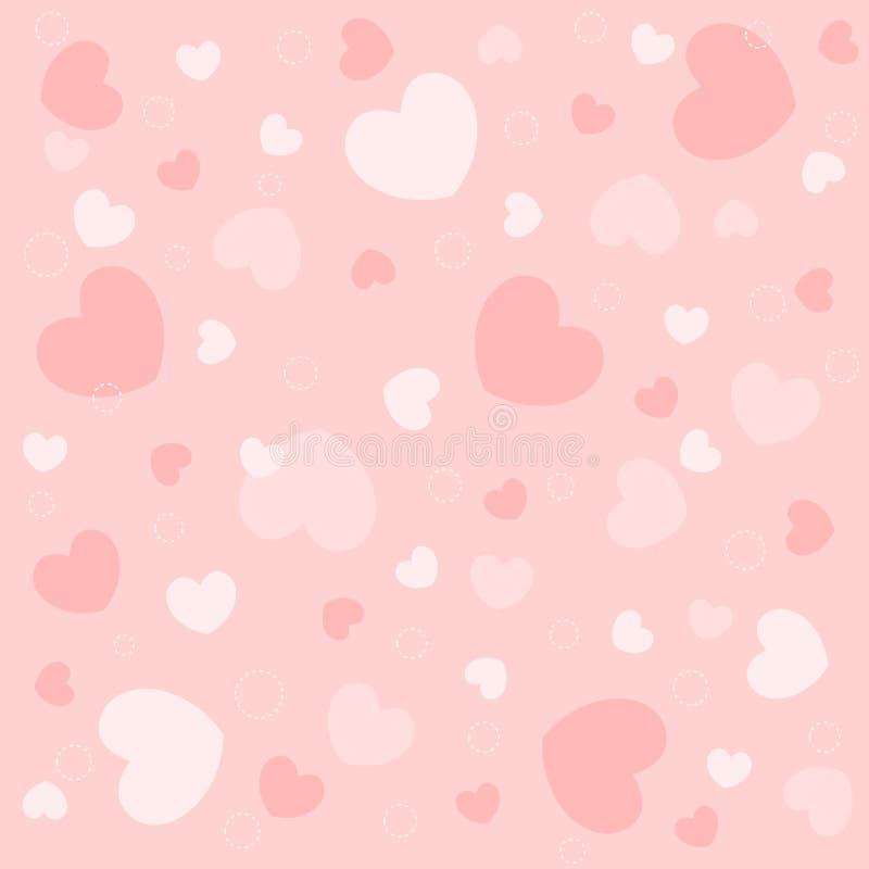 Hearts seamless pattern vector illustration