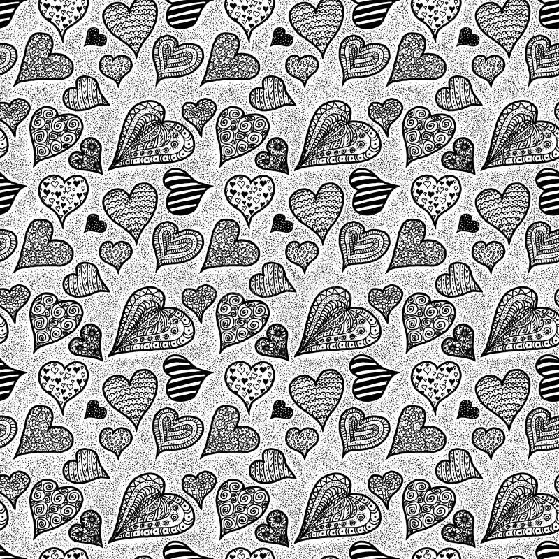 Hearts. Seamless pattern stock photos