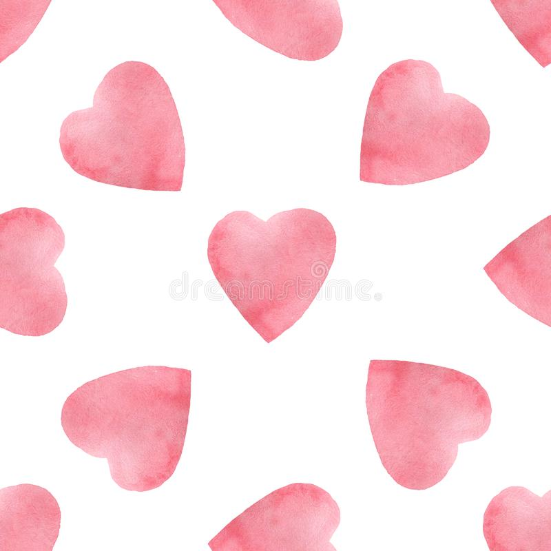 Free Hearts Seamless Pattern. Valentine`s Day Handwritten Background. 14 February Background Stock Photography - 137664412