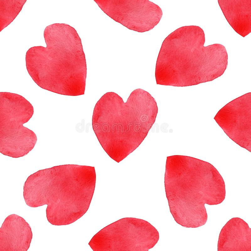 Free Hearts Seamless Pattern. Valentine`s Day Handwritten Background. 14 February Background Royalty Free Stock Image - 137664476
