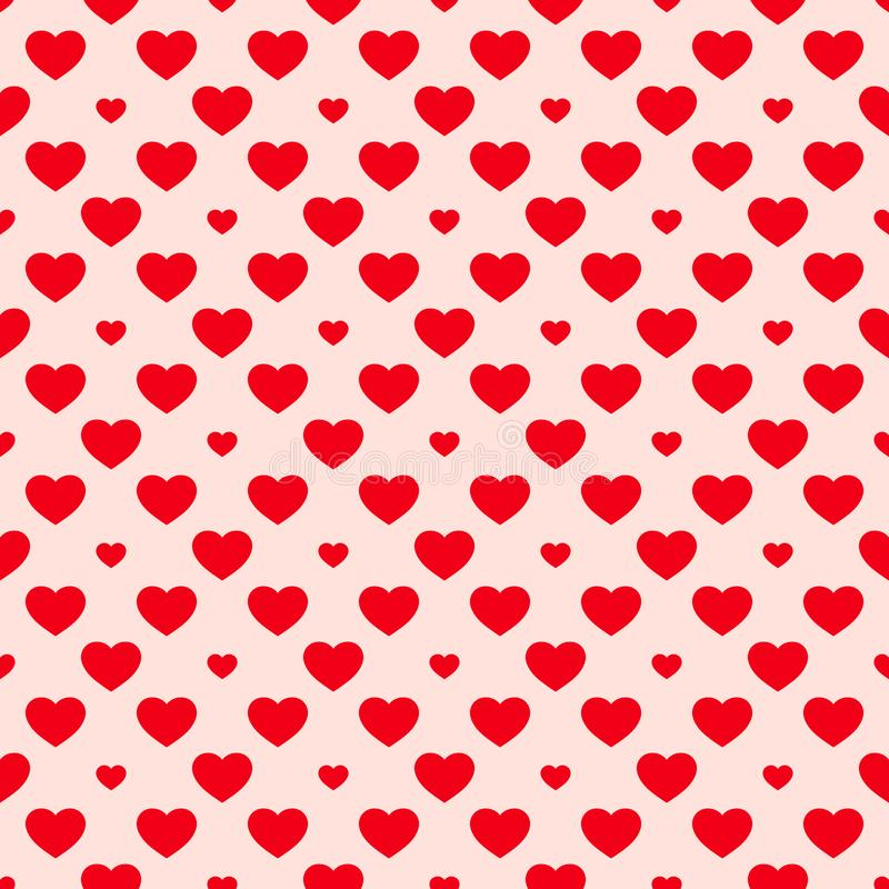 Hearts seamless pattern. Valentines day background. Red and pink texture. royalty free illustration