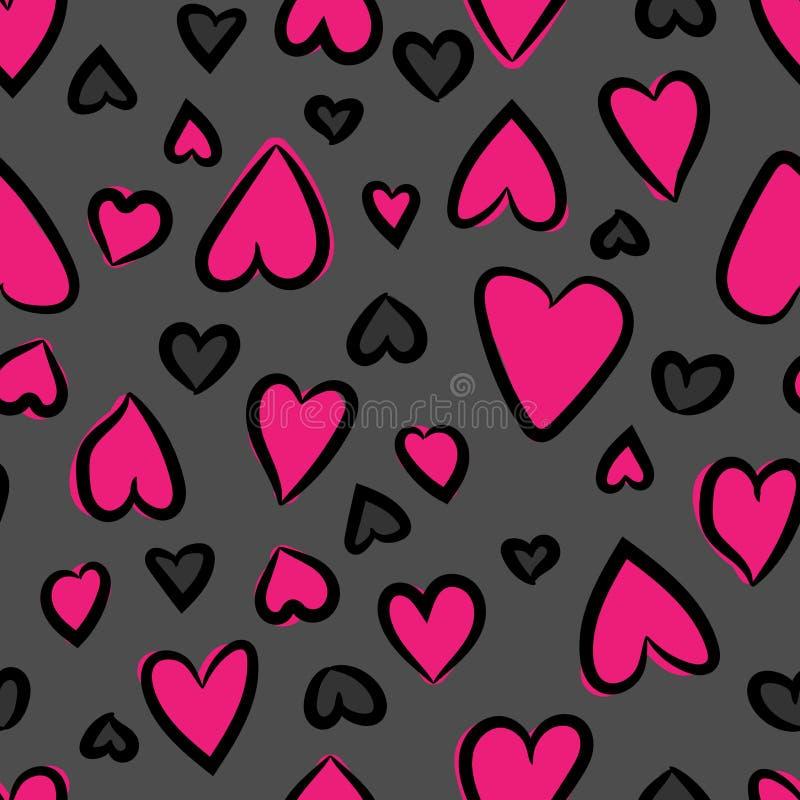 Hearts seamless pattern. Vector illustration. Repeated hearts. Cute romantic seamless pattern. Vector illustration. royalty free illustration