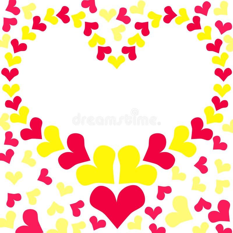 Lovely Hearts Border Frame Card Stock Illustration - Illustration of ...