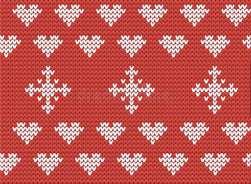 Hearts and snowflakes pattern