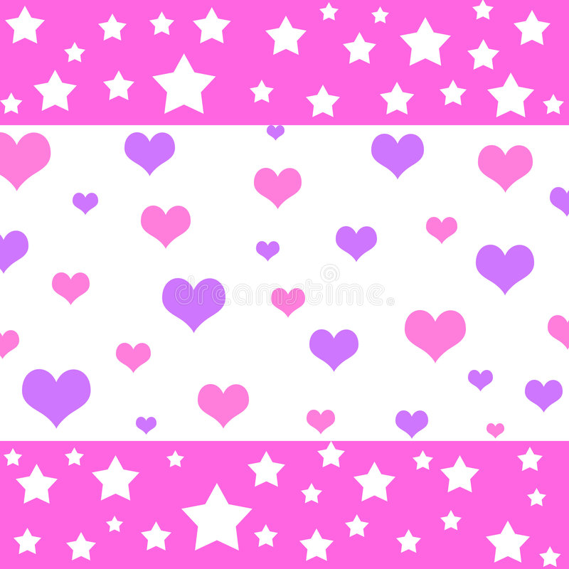 Download Hearts and stars stock illustration. Image of love, print - 1746483