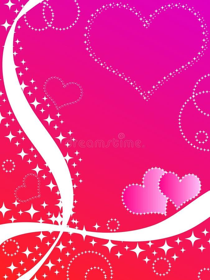 Hearts and stars stock illustration