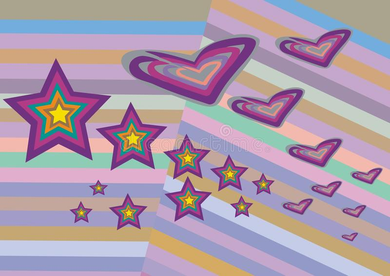 Hearts and stars stock image
