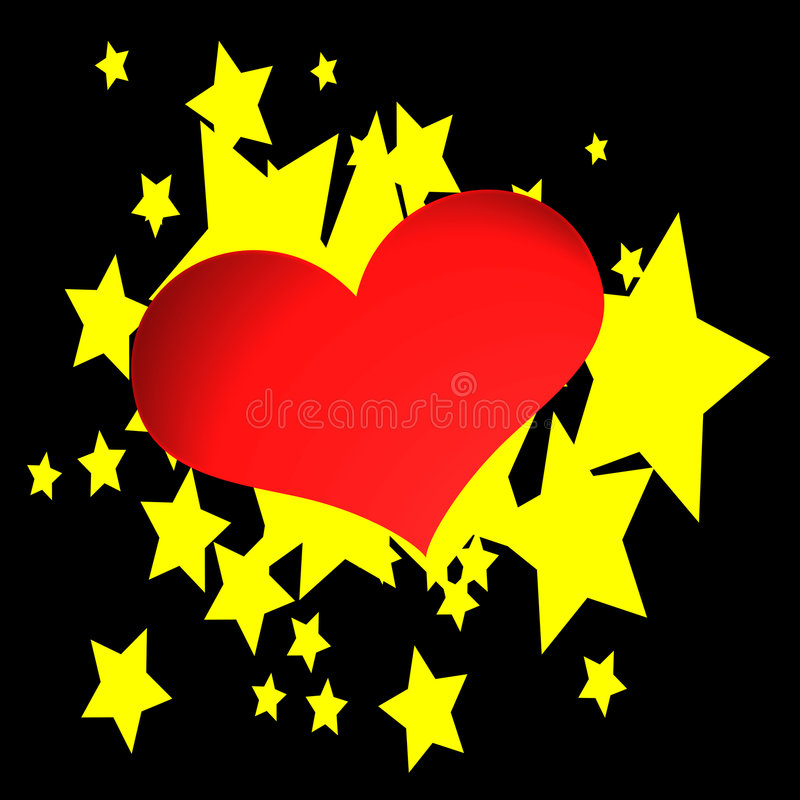 Hearts & Stars. Abstract illustration of hearts and stars royalty free illustration