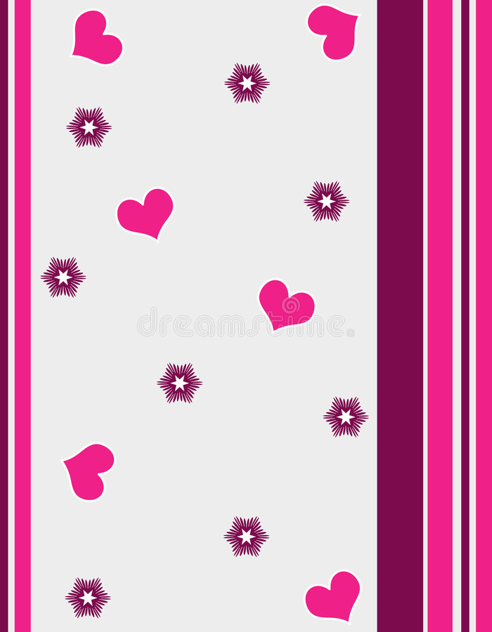 Hearts and stripes stock illustration