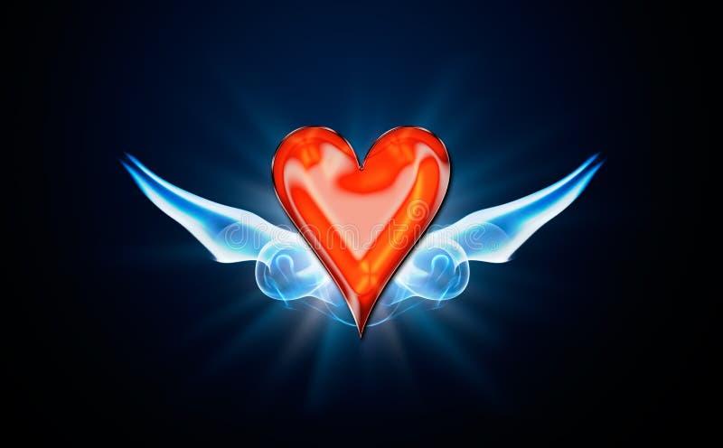 Hearts, symbol of Poker stock photos