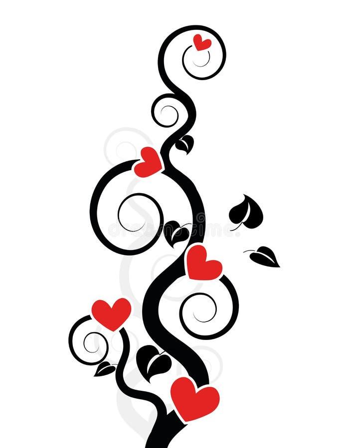 Hearts Tree / Vine Royalty Free Stock Photography