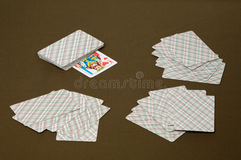 Hearts - trump cards stock photography