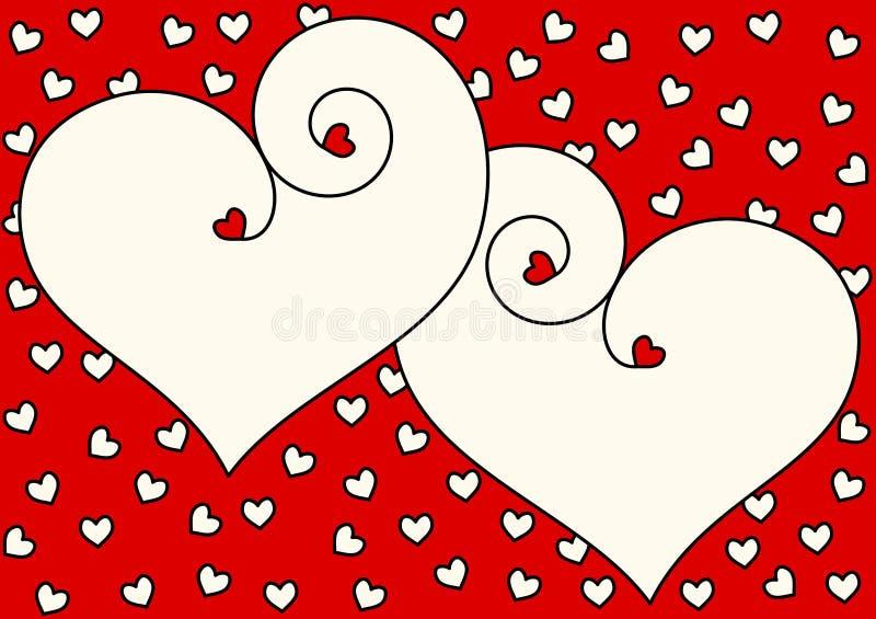 Hearts valentines day invitation card royalty free stock photography
