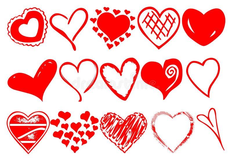 Hearts vector royalty free stock photos
